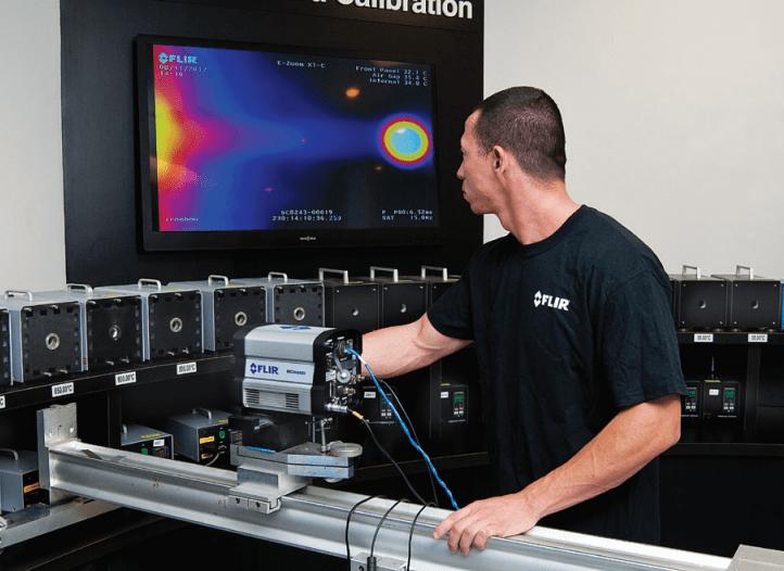 calibración de cámaras y pirómetros, calibración de una cámara FLIR, Apliter Termografia